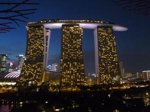 die neue Skyline von Singapur - klasse!