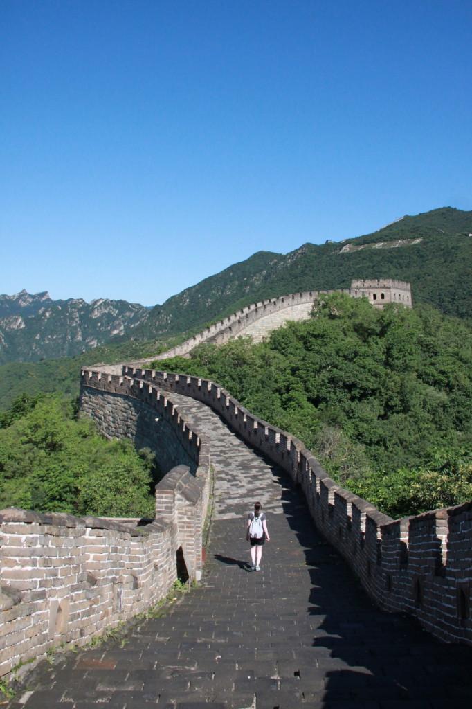 Von den schönsten Tagen in Peking wird ja leider nie in den Medien berichtet. Perfekter Tag auf der Mauer!